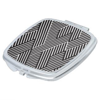 El maquillaje de Espejo Clásico Rayas Cruzadas Espejos Compactos