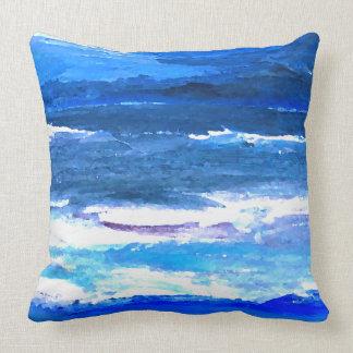 El mar azul del océano de la decoración de la cojines