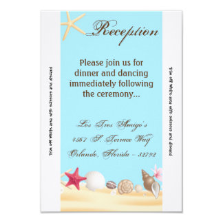 el mar de la tarjeta de la recepción 3.5x7 invitación 8,9 x 12,7 cm