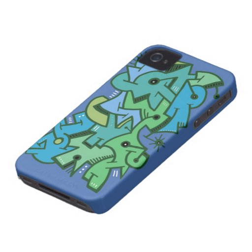 El mar del color - diseño abstracto Case-Mate iPhone 4 cárcasa