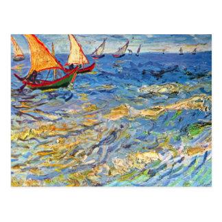 El mar en Saintes-Maries de Vincent van Gogh Postal