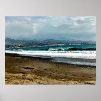 El mar Mediterráneo en España Póster