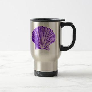 El mar púrpura Shell del claro de luna tropical Taza De Viaje