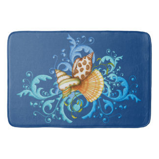 El mar Shell de la felpa salpica alfombras de baño