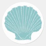 El mar Shell que casa el sobre sella Etiquetas