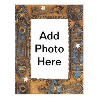 El marco antiguo de la llave maestra añade su postal
