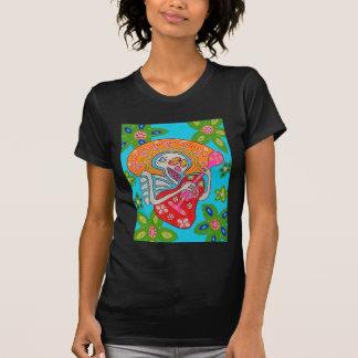 El Mariachi Serenade - el día del esqueleto muerto Camisetas