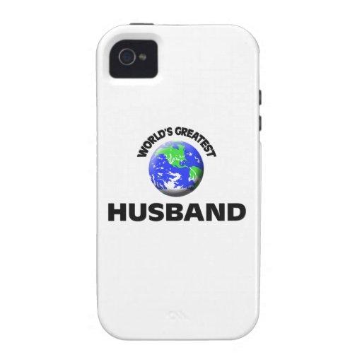 El marido más grande del mundo Case-Mate iPhone 4 carcasas