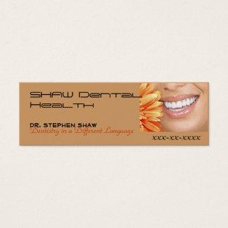 el márketing del bot, SHAW dental cura… Tarjeta De Visita Pequeña