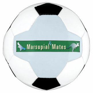 El marsupial acopla el balón de fútbol