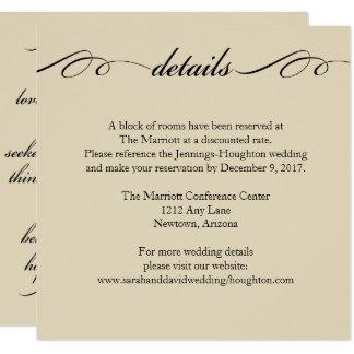 El más grande de éstos es tarjeta de detalles del invitación 13,3 cm x 13,3cm