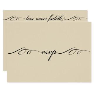 El más grande de éstos es tarjeta de la respuesta invitación 8,9 x 12,7 cm