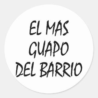 EL Mas Guapo Del Barrio Etiquetas Redondas