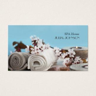 El masaje de la casa del balneario relaja el salón tarjeta de visita
