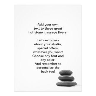 El masaje empiedra la foto tarjetas publicitarias
