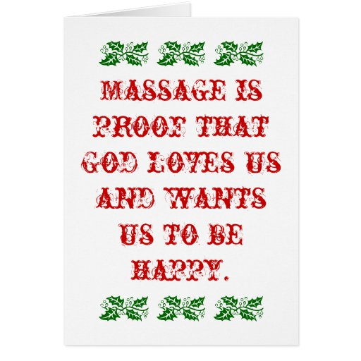 El masaje es prueba que dios nos ama navidad tarjeton