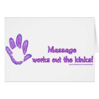 El masaje resuelve las torceduras tarjeta de felicitación