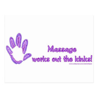 El masaje resuelve las torceduras tarjeta postal