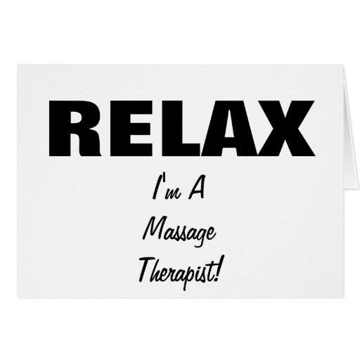 El masaje se relaja (el personalizable) tarjetón