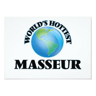 El masajista más caliente del mundo invitación 12,7 x 17,8 cm