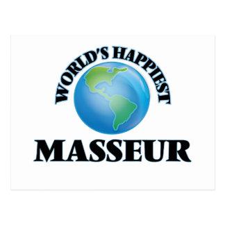 El masajista más feliz del mundo postal