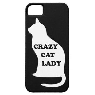 El mascota animal felino de la señora loca del gat iPhone 5 cárcasas