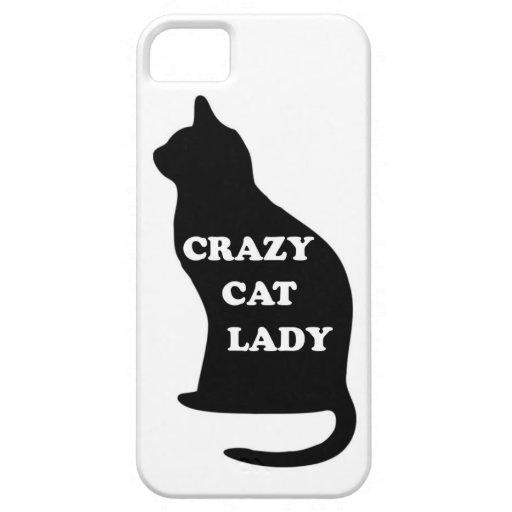 El mascota animal felino de la señora loca del gat iPhone 5 Case-Mate fundas