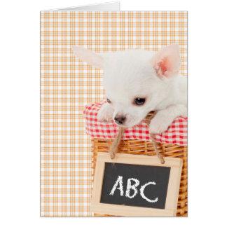 El mascota Minnie ABC de los profesores carda Felicitaciones