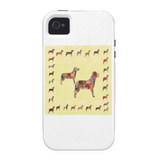 El mascota pintado de los regalos de los PERROS iPhone 4 Carcasas