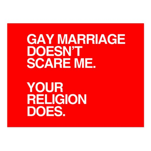 EL MATRIMONIO HOMOSEXUAL NO ME ASUSTA - .PNG POSTAL