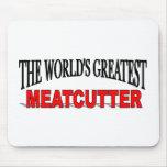 El Meatcutter más grande del mundo Tapetes De Raton