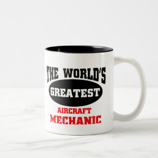 El mecánico de aviones más grande taza de café