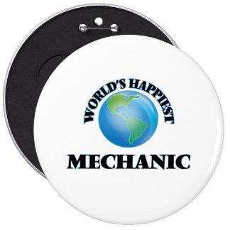 El mecánico más feliz del mundo chapa redonda 15 cm