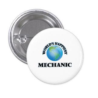 El mecánico más feliz del mundo chapa redonda 2,5 cm