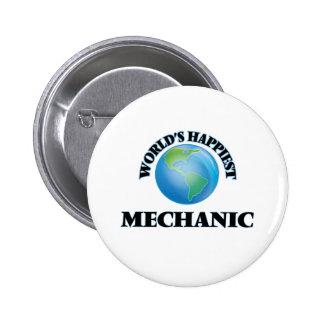 El mecánico más feliz del mundo chapa redonda 5 cm