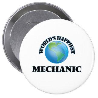 El mecánico más feliz del mundo chapa redonda 10 cm