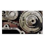 el mecánico repara la plantilla de la tarjeta de v plantilla de tarjeta de negocio