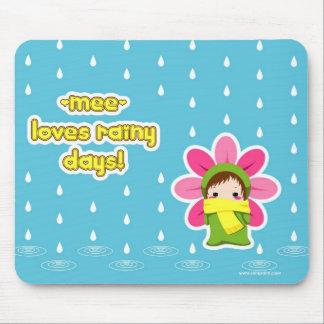 el mee ama el cojín lluvioso del days_Mouse Alfombrilla De Ratón