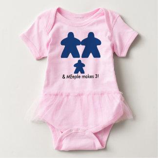el meeple hace el tutú de tres bebés body para bebé