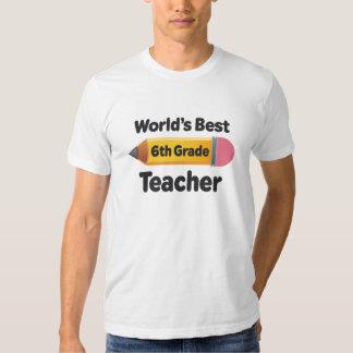 El mejor 6to lápiz del profesor del grado de los camisetas