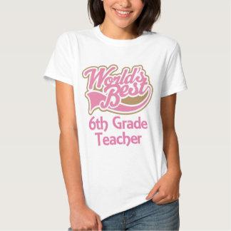 El mejor 6to profesor del grado de los mundos camiseta