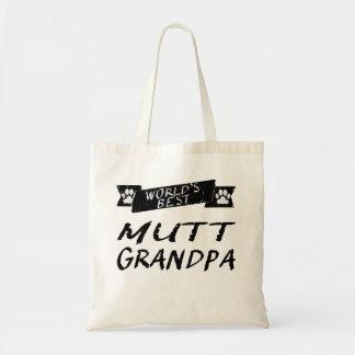 El mejor abuelo del Mutt del mundo Bolsa Tela Barata