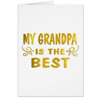 El mejor abuelo tarjeta de felicitación
