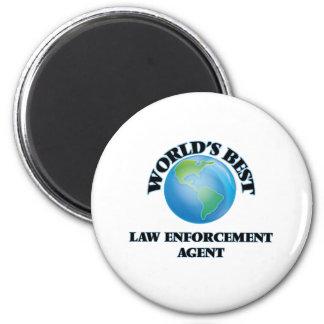 El mejor agente de aplicación de la ley del mundo imán redondo 5 cm