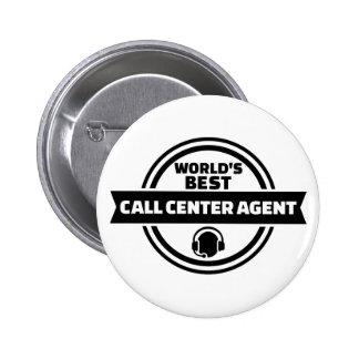 El mejor agente del centro de atención telefónica chapa redonda de 5 cm
