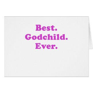 El mejor ahijado nunca tarjeta de felicitación