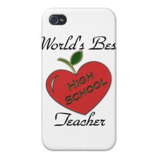 El mejor alto profesor de escuela del mundo iPhone 4 carcasa