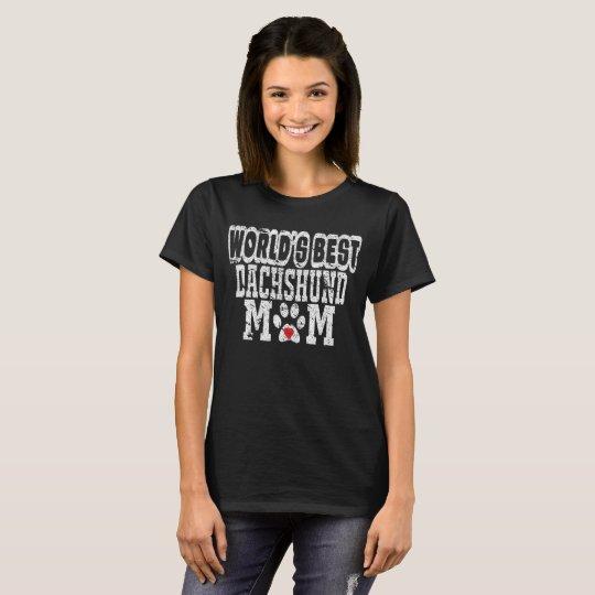 El mejor amante del perro de la mamá del Dachshund Camiseta