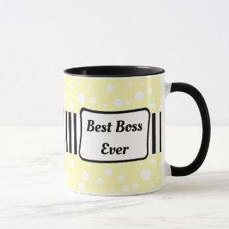 El mejor amarillo de Boss nunca, taza de café
