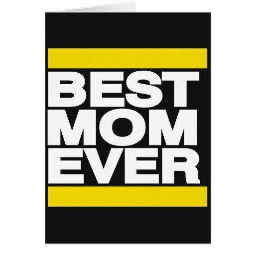 El mejor amarillo de la mamá nunca felicitacion